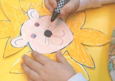 Lew Jesień (Prace plastyczne) Joanna Barszcz Prace plastyczne Światowy Dzień Zwierząt Zwierzęta (Prace plastyczne)