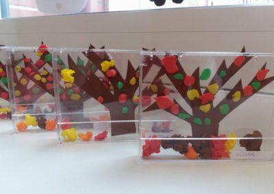 Jesień zamknięta w pudełku Dzień Drzewa Jesień Jesień (Prace plastyczne) Joanna Lewandowska Prace plastyczne Prace plastyczne (Dzień drzewa) Prace plastyczne (Jesień)