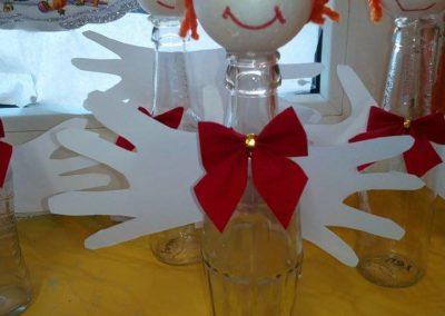 Aniołek z butelki Dzień Anioła Monika Okoń Postacie Prace plastyczne