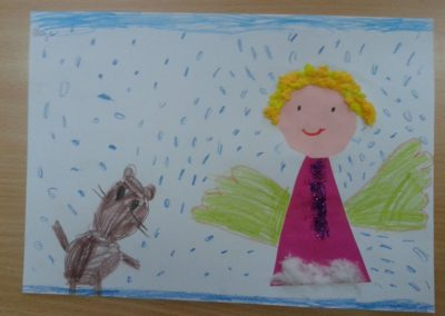 Aniołki - prace plastyczne Dzień Anioła Marlena Wrońska Postacie Prace plastyczne Prace plastyczne (Boże Narodzenie) Święta