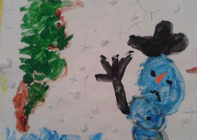 Bałwanki - praca zbiorowa Kreatywnie z dzieckiem Marlena Wrońska Prace plastyczne Święta Zima