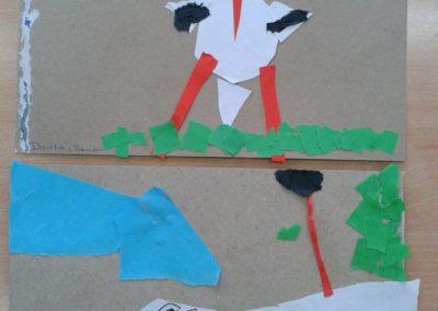 Bociany - wycinanka i wydzieranka Jesień (Prace plastyczne) Marlena Wrońska Prace plastyczne Prace plastyczne (Dzień Zwierząt) Światowy Dzień Zwierząt Wiosna (Prace plastyczne) Zwierzęta (Prace plastyczne)