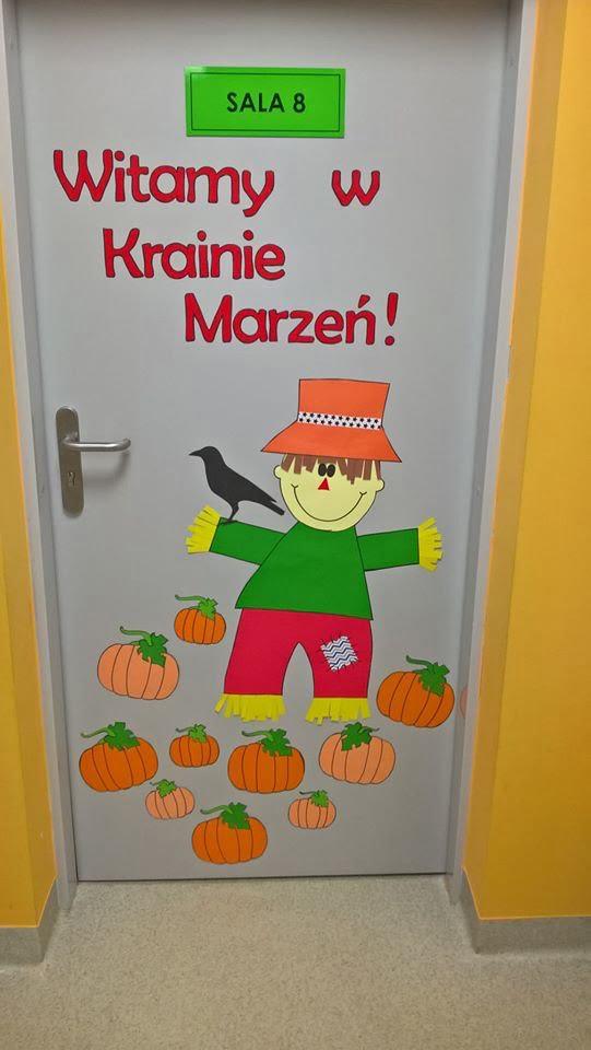 Jesienna dekoracja drzwi Emilia Lalak Jesień Jesień Prace plastyczne Prace plastyczne (Jesień)
