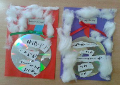 Kartki świąteczne - bombka Boże Narodzenie Kreatywnie z dzieckiem Marlena Wrońska Prace plastyczne Święta Zima