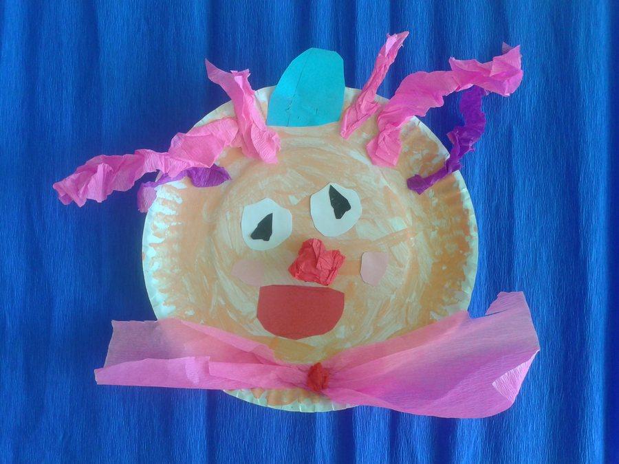 Kreatywne Prace Dla Dzieci Klaun Z Papierowego Talerzyka