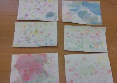 Łąka malowana bańkami Dzień Chemika Izabela Kowalska Lato Prace plastyczne Prace plastyczne (Wiosna) Wiosna (Prace plastyczne)