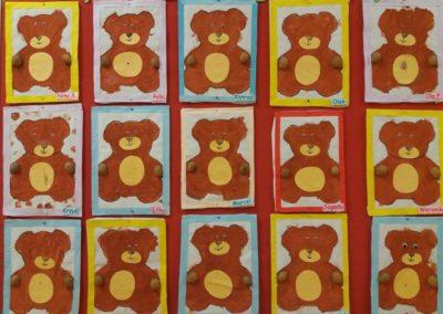 Miś - praca plastyczna Dzień Leśnika Dzień Niedźwiedzia Dzień Pluszowego Misia Joanna Lewandowska Kreatywnie z dzieckiem Zwierzęta