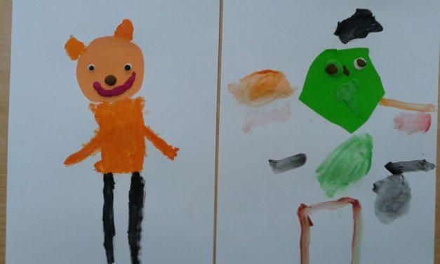 Misie farbkami malowane