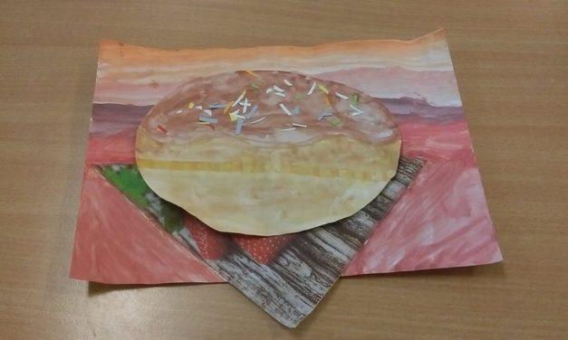 Pączek w roli głównej farbami malowany