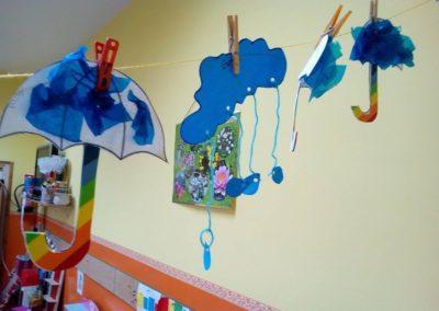 Parasol z woreczków śniadaniowych Dzień Wody Jesień Monika Okoń Prace plastyczne Prace plastyczne (Dzień Wody) Prace plastyczne (Wiosna)
