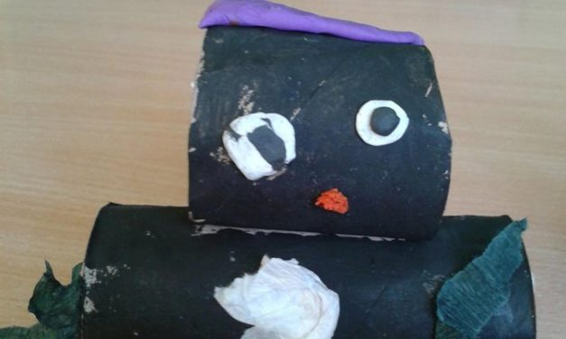 Pingwinki z rolki po papierze