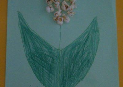 Popcornowy kwiatek Dzień Edukacji Narodowej Dzień Popcornu Joanna Barszcz Kreatywnie z dzieckiem Rośliny