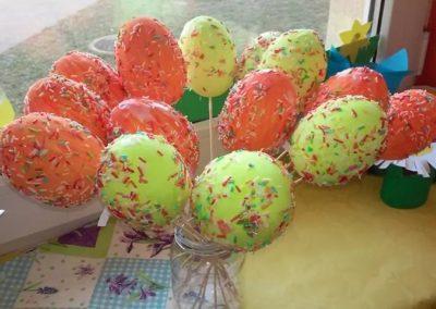 Styropianowe jajka Monika Okoń Prace plastyczne Prace plastyczne (Wielkanoc) Święta Wielkanoc Wiosna (Prace plastyczne)