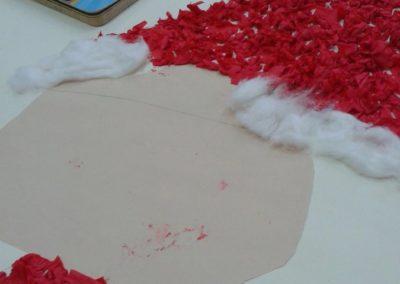 Święty Mikołaj z brystolu - praca grupowa Marlena Wrońska Mikołajki Prace plastyczne Prace plastyczne (Boże Narodzenie) Prace plastyczne (Mikołajki) Święta