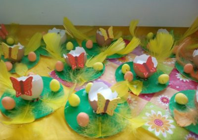 Świeczniki z wydmuszek Monika Okoń Prace plastyczne Prace plastyczne (Wielkanoc) Wielkanoc