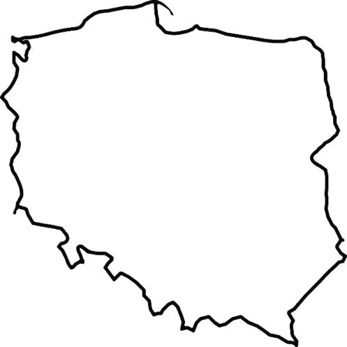 Konturowa mapa Polski