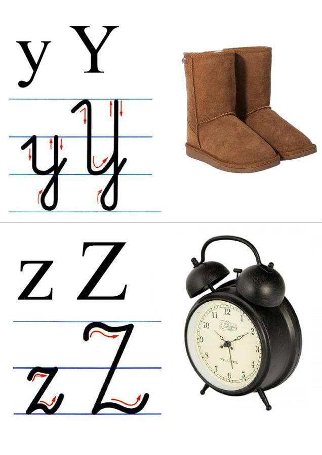 Alfabet: tabliczki z obrazkami Ania Jóźwina Litery Nauka pisania Pomoce dydaktyczne
