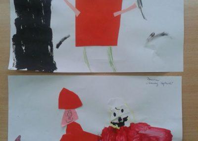 Czerwony Kapturek Dzień postaci z bajek Marlena Wrońska Postacie Prace plastyczne Prace plastyczne (Dzień Postaci z Bajek)