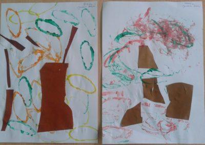 Jesienne drzewko Dzień Drzewa Dzień Lasu Jesień Jesień Kreatywnie z dzieckiem Marlena Wrońska Prace plastyczne Rośliny