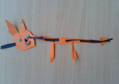 Kotek Kłopotek - wycinanka Dzień postaci z bajek Kreatywnie z dzieckiem Marlena Wrońska Prace plastyczne Światowy Dzień Kota Światowy Dzień Zwierząt Zwierzęta