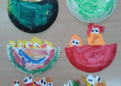 Kurczaczki w gnieździe z papierowego talerzyka Marlena Wrońska Prace plastyczne Prace plastyczne (Dzień Zwierząt) Prace plastyczne (Wielkanoc) Prace plastyczne (Wiosna) Światowy Dzień Zwierząt Wielkanoc Wiosna (Prace plastyczne) Zwierzęta