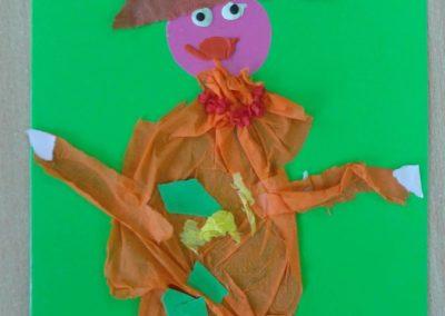 Pani Jesień - wyklejanka Jesień Jesień Marlena Wrońska Prace plastyczne Prace plastyczne (Jesień)