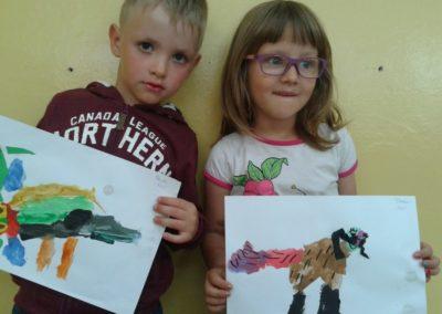 Piesek malowany farbkami Dzień Kundelka Marlena Wrońska Prace plastyczne Prace plastyczne (Dzień Kundelka) Prace plastyczne (Dzień Zwierząt) Światowy Dzień Zwierząt Zwierzęta