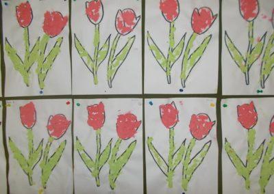 Wiosenne kwiaty Dzień Matki Dzień Taty Joanna Chorabik Prace plastyczne Prace plastyczne (Dzień Mamy) Prace plastyczne (Dzień Taty) Rośliny (Prace plastyczne) Wiosna (Prace plastyczne)