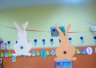 Zajączki zawieszki Monika Okoń Prace plastyczne Prace plastyczne (Dzień Zwierząt) Prace plastyczne (Wielkanoc) Światowy Dzień Zwierząt Wielkanoc Zwierzęta