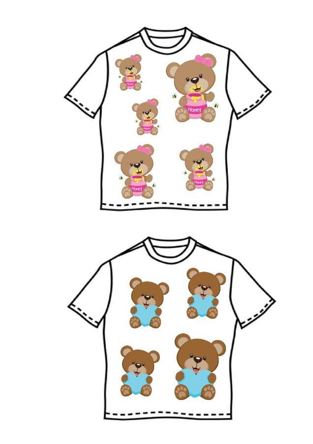 Dzień Misia. Misiowe koszulki Dzień Niedźwiedzia Polarnego Dzień Pluszowego Misia Joanna Gadomska Prace plastyczne (Dzień Niedźwiedzia Polarnego)