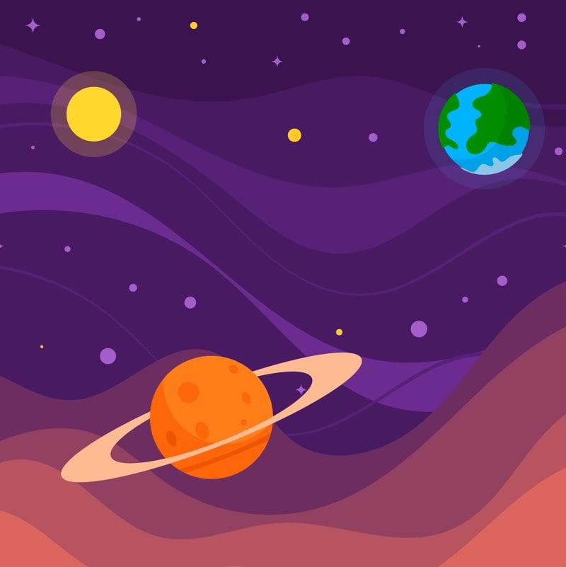 Kosmiczne przyrzeczenie Agata Dziechciarczyk Dzień Lotnictwa i Kosmonautyki Kosmos i planety Wierszyki