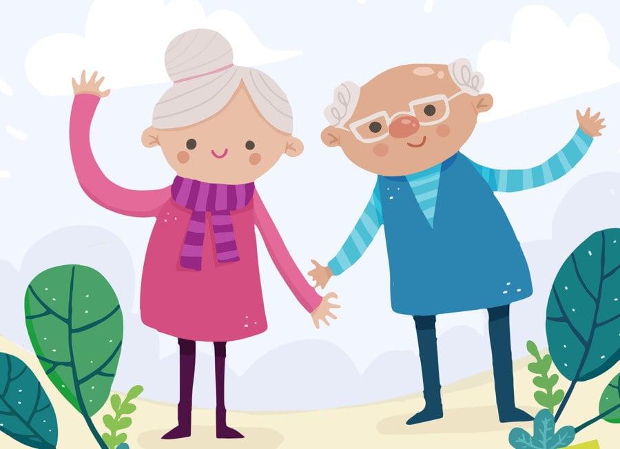 Odlotowa babcia i najsłodszy dziadek Agata Dziechciarczyk Dzień Babci i Dziadka Dzień Babci i Dziadka (Wierszyki) Wierszyki