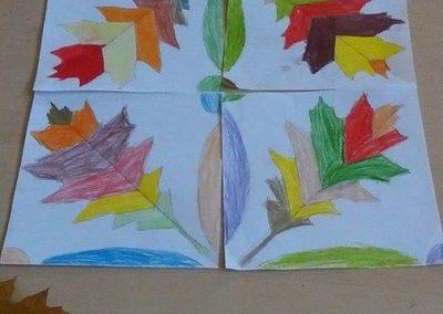 Cienie z liści Izabela Kowalska Jesień Jesień Kreatywnie z dzieckiem Prace plastyczne
