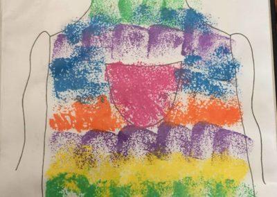 Kolorowy fartuszek Patrycja Sulej Pomoce dydaktyczne