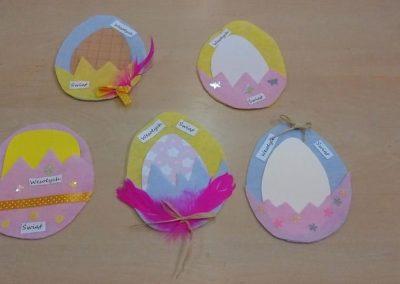 Filcowe kartki wielkanocne Izabela Kowalska Prace plastyczne Prace plastyczne (Wielkanoc) Wielkanoc