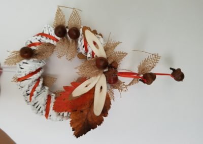 Jesienne wianki Dominika Kobylak Jesień Jesień Kreatywnie z dzieckiem Prace plastyczne