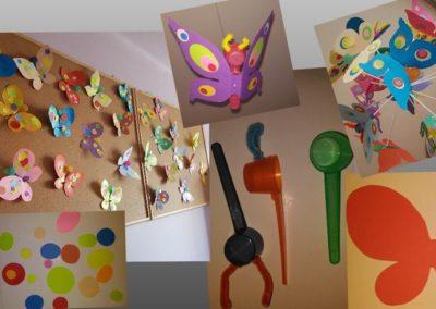 Kolorowe motyle Dominika Kobylak Lato Prace plastyczne Prace plastyczne (Dzień Zwierząt) Światowy Dzień Zwierząt Wiosna (Prace plastyczne) Zwierzęta (Prace plastyczne)