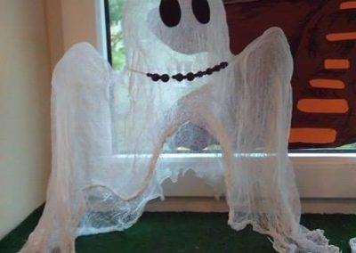 Przyjazne duszki z gazy / pieluszki tetrowej Dominika Kobylak Postacie Prace plastyczne Święto Dyni / Halloween