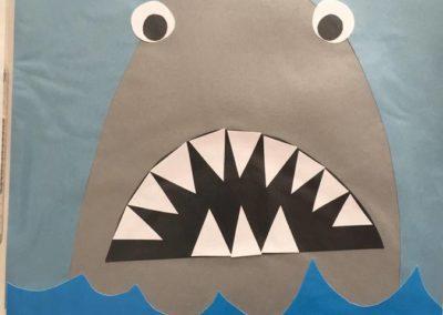 Rekin wycinany z papieru Dzień Wody Lato Patrycja Sulej Pomoce dydaktyczne