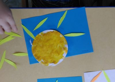 Słońce farbami malowane Dominika Kobylak Jesień Jesień Kreatywnie z dzieckiem Lato Prace plastyczne Prace plastyczne Wiosna