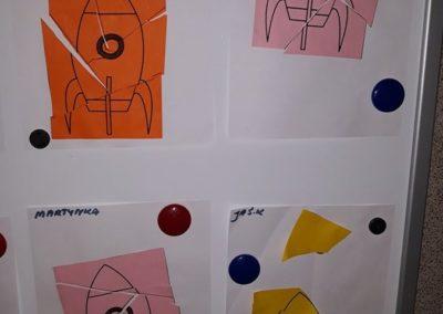 Statek kosmiczny (puzzle) Dzień Kosmosu Dzień Lotnictwa i Kosmonautyki Kreatywnie z dzieckiem Małgorzata Wojkowska