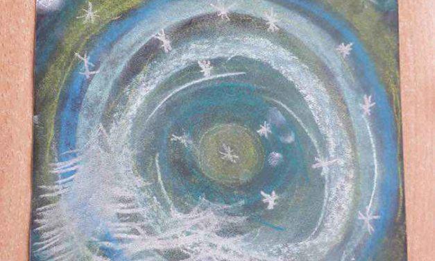 Zimowe pejzaże wykonane pastelami