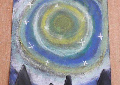Zimowe pejzaże wykonane pastelami Alicja Mazur Kreatywnie z dzieckiem Zima Zima