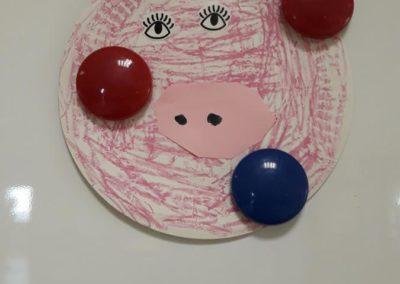 Psotna świnka z papierowych talerzyków Kreatywnie z dzieckiem Małgorzata Wojkowska Światowy Dzień Zwierząt Zwierzęta