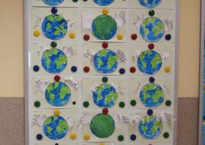 """Praca plastyczna """"Chronimy ziemię"""" Dzień Ochrony Środowiska Dzień Ziemi Kreatywnie z dzieckiem Małgorzata Wojkowska"""