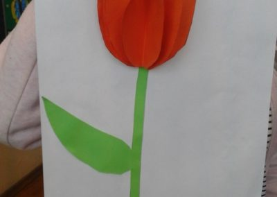 Przestrzenny tulipan Anna Kowalska Dzień Matki Kreatywnie z dzieckiem Rośliny Wiosna