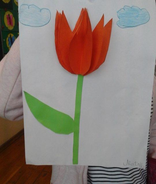 Przestrzenny tulipan