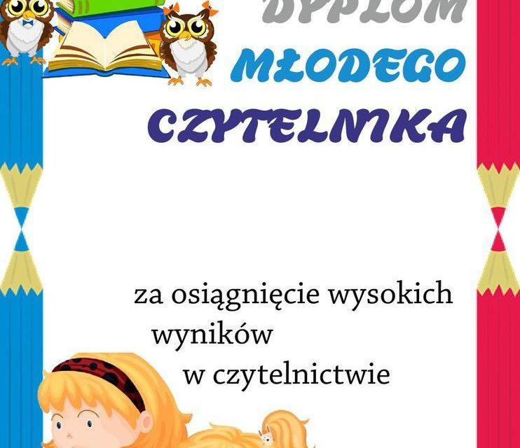 Dyplomy młodego czytelnika (pionowe)