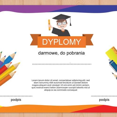 Dyplomy za udział Dyplomy Okolicznościowe Wakacyjne