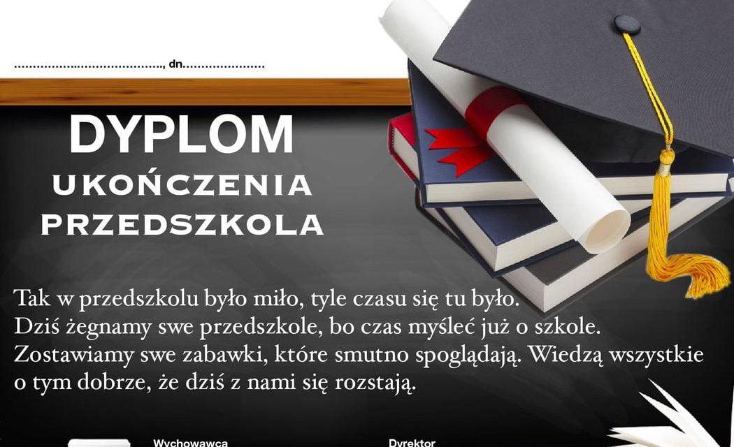 Dyplomy ukończenia przedszkola (poziome)